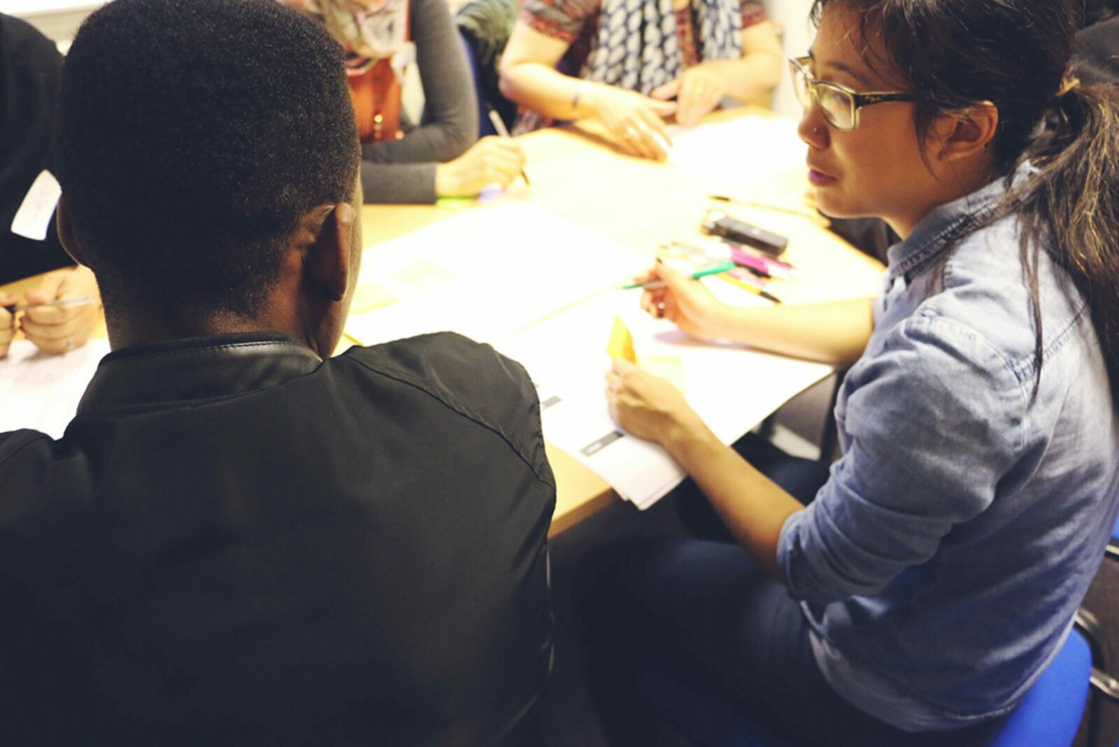 Marie at work with Snook, a UK service design agency.