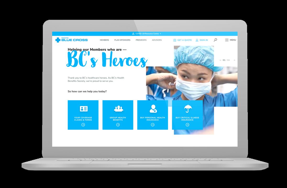 Image of PBC Desktop on Laptop